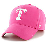 '47 Youth Girls' Texas Rangers Basic Pink Adjustable Hat