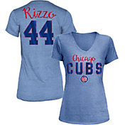5th & Ocean Women's Chicago Cubs Anthony Rizzo #44 Royal Tri-Blend V-Neck T-Shirt
