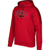 adidas Men's Louisville Cardinals Cardinal Red Arched Heat Pullover Hoodie