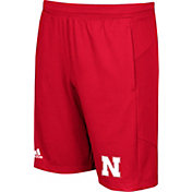 adidas Men's Nebraska Cornhuskers Scarlet Knit Performance Shorts