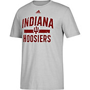 adidas Men's Indiana Hoosiers Grey Performance T-Shirt