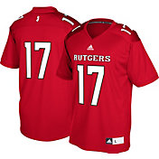 adidas Men's Rutgers Scarlet Knights #17 Scarlet Replica Football Jersey