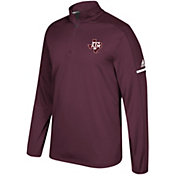 adidas Men's Texas A&M Aggies Maroon Sideline Long Sleeve Quarter-Zip Shirt