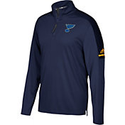 adidas Men's St. Louis Blues Authentic Pro Navy Quarter-Zip Jacket