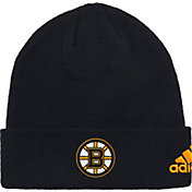 adidas Men's Boston Bruins Basic Black Knit Beanie