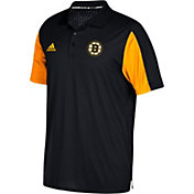adidas Men's Boston Bruins Authentic Pro Game Day Black Performance Polo