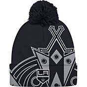 adidas Men's Los Angeles Kings Logo Black Pom Knit Beanie