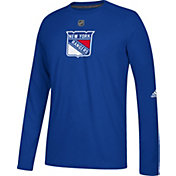 adidas Men's New York Rangers Primary Position Ultimate Navy Long Sleeve Shirt