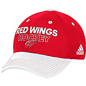 adidas Men's Detroit Red Wings Locker Room Red Structured Fitted Flex Hat
