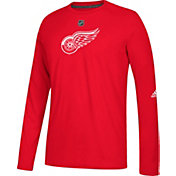 adidas Men's Detroit Red Wings Primary Position Ultimate Red Long Sleeve Shirt