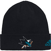 adidas Men's San Jose Sharks Basic Black Knit Beanie