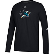 adidas Men's San Jose Sharks Primary Position Ultimate Black Long Sleeve Shirt