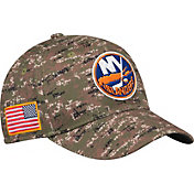adidas Men's New York Islanders Camo Structured Fitted Flex Hat