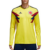 adidas Men's Colombia Replica Home Yellow Long Sleeve Stadium Jersey
