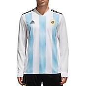 adidas Men's Argentina Replica Home White Long Sleeve Stadium Jersey