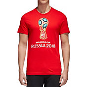 adidas Men's 2018 World Cup Russia Logo Red T-Shirt