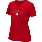 adidas Women's Indiana Hoosiers Crimson V-Neck T-Shirt