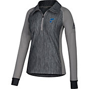 adidas Women's St. Louis Blues Logo Grey Performance Quarter-Zip Pullover