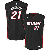 adidas Youth Miami Heat Hassan Whiteside #21 Road Black Replica Jersey