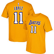 adidas Youth Los Angeles Lakers Brook Lopez #11 Gold T-Shirt