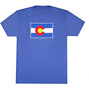 Aksels Men's Colorado Flag Tri-Blend T-Shirt