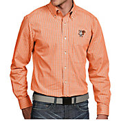 Antigua Men's Bowling Green Falcons Orange Associate Button Down Long Sleeve Shirt