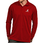 Antigua Men's Alabama Crimson Tide Crimson Exceed Long Sleeve Polo