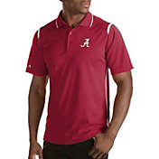 Antigua Men's Alabama Crimson Tide Merit Xtra-Lite White Polo