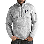 Antigua Men's Creighton Bluejays Grey Fortune Pullover Jacket