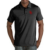 Antigua Men's Oklahoma Sooners Black Quest Polo