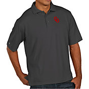 Antigua Men's Oklahoma Sooners Grey Pique Xtra-Lite Polo