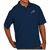 Antigua Men's Navy Midshipmen Grey Pique Xtra-Lite Polo