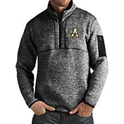 Antigua Men's Appalachian State Mountaineers Black Fortune Pullover Jacket