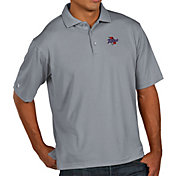 Antigua Men's Tulsa Golden Hurricane Grey Pique Xtra-Lite Polo