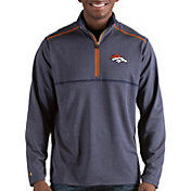 Antigua Men's Denver Broncos Prodigy Quarter-Zip Navy Pullover