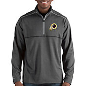 Antigua Men's Washington Redskins Prodigy Quarter-Zip Charcoal Pullover