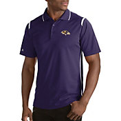 Antigua Men's Baltimore Ravens Merit Purple Xtra-Lite Polo