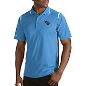 Antigua Men's Tennessee Titans Merit Blue Xtra-Lite Polo