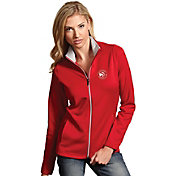 Antigua Women's Atlanta Hawks Leader Red Full-Zip Fleece