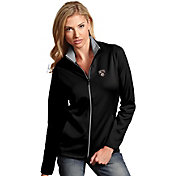 Antigua Women's Brooklyn Nets Leader Black Full-Zip Fleece