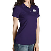 Antigua Women's Kansas State Wildcats Purple Inspire Performance Polo