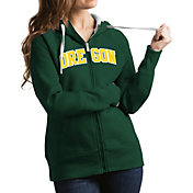 Antigua Women's Oregon Ducks Green Victory Full-Zip Hoodie