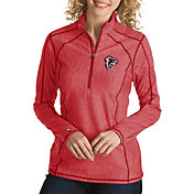 Antigua Women's Atlanta Falcons Quick Snap Logo Tempo Red Quarter-Zip Pullover