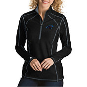 Antigua Women's Carolina Panthers Tempo Black Quarter-Zip Pullover