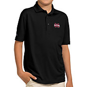 Antigua Youth Mississippi State Bulldogs Black Pique Polo