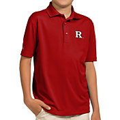 Antigua Youth Rutgers Scarlet Knights Scarlet Pique Polo