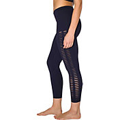 Betsey Johnson Women's Laser Cut Peek-a-Boo Leggings