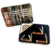 Old Timer 3 Piece Tin Folding Knife Set