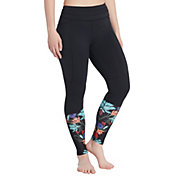 CALIA by Carrie Underwood Women's Essential Printed Ribbed Leggings