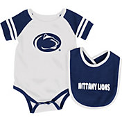 Colosseum Athletics Infant Penn State Nittany Lions Blue Roll-Out Onsie And Bib Set